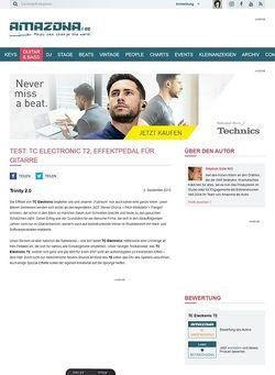 Amazona.de Test: TC Electronic T2, Effektpedal für Gitarre