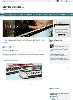 Amazona.de Test: Yamaha Reface CP E-Piano, Reface YC E-Orgel