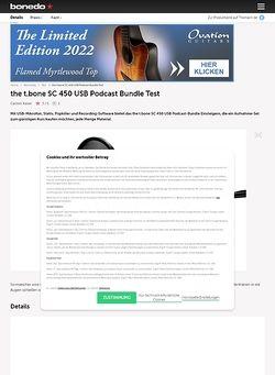 Bonedo.de the t.bone SC 450 USB Podcast Bundle