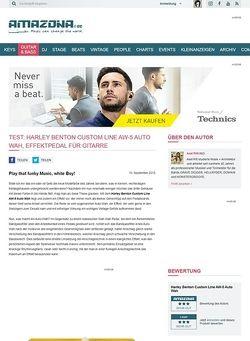 Amazona.de Test: Harley Benton Custom Line AW-5 Auto Wah, Effektpedal für Gitarre