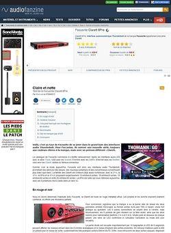 Audiofanzine.com Focusrite Clarett 8Pre