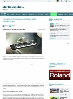 Amazona.de TOP NEWS: Roland Juno-DS61 & DS88, Synthesizer