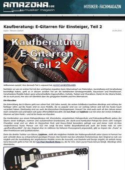Amazona.de Kaufberatung: E-Gitarren für Einsteiger, Teil 2