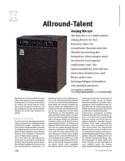 Gitarre & Bass Ampeg BA-210, Bass-Combo
