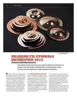 Sticks Zildjian FX Cymbals Neuheiten 2015