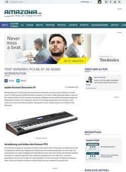Amazona.de Test: Kurzweil PC3 A8, A7, A6, Music Workstation