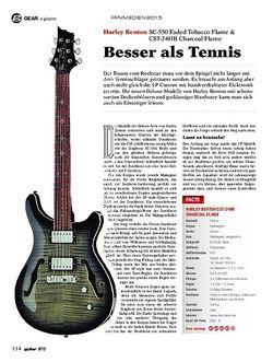 Guitar Harley Benton SC-550 & CST-24HB