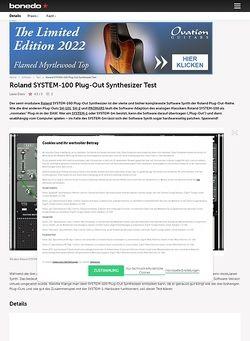 Bonedo.de Roland SYSTEM-100 Plug-Out Synthesizer