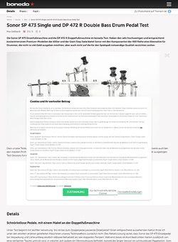 Bonedo.de Sonor SP 473 Single und DP 472 R Double Bass Drum Pedal