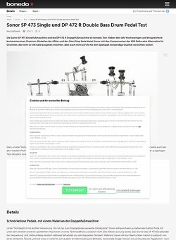 Bonedo.de Sonor SP 473 Single und DP 472 R Double Bass Drum Pedal