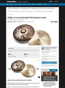 MusicRadar.com Zildjian K Constantinople Renaissance