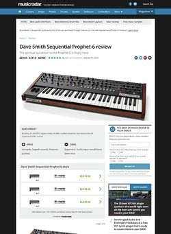 MusicRadar.com Dave Smith Sequential Prophet-6