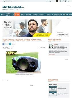 Amazona.de Test: Mackie Freeplay, mobile Kompakt-PA
