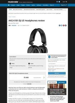 MusicRadar.com AKG K181 DJ UE Headphones