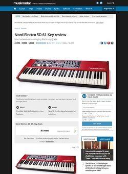 MusicRadar.com Nord Electro 5D 61-Key