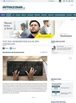 Amazona.de Test: Roli Seaboard Rise, USB-Controllerkeyboard