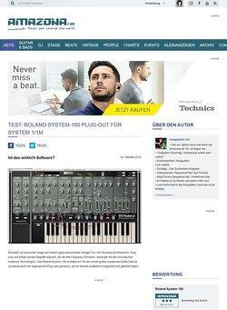 Amazona.de Roland System-100, Software-Synthesizer für System 1/1m