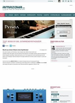 Amazona.de Test: BOSS SY-300, Gitarrensynthesizer