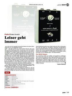 guitar Finhol Ratio Switch