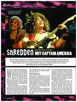 guitar Shredden mit Captain America