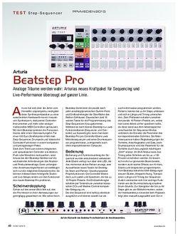 KEYS Arturia Beatstep Pro