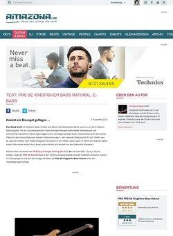 Amazona.de Test: PRS SE Kingfisher Bass Natural, E-Bass