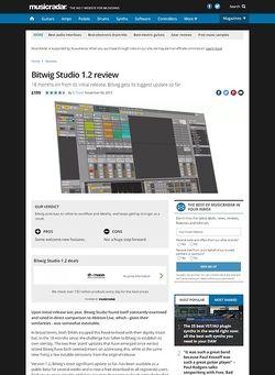 MusicRadar.com Bitwig Studio 1.2