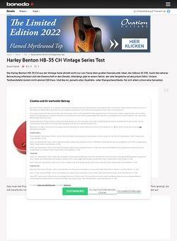 Bonedo.de Harley Benton HB-35 CH Vintage Series