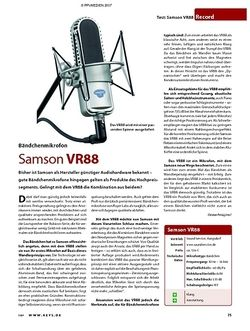 KEYS Test: Samson VR88