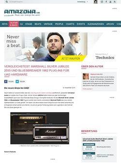 Amazona.de Vergleichstest: Marshall Silver Jubilee 2555 und Bluesbreaker 1962 Plug-ins für UAD Hardware