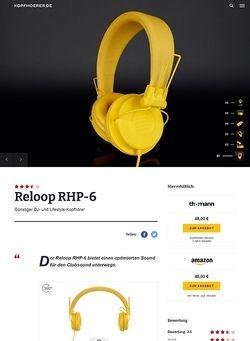 Kopfhoerer.de Reloop RHP-6 Series Yellow