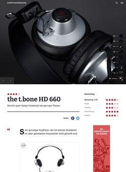 Kopfhoerer.de the t.bone HD 660