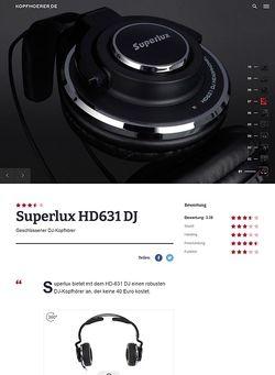 Kopfhoerer.de Superlux HD-631 DJ