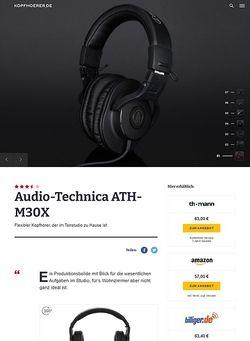 Kopfhoerer.de Audio-Technica ATH-M30 X