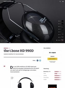 Kopfhoerer.de the t.bone HD 990D