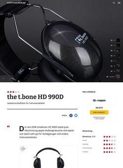 Kopfhoerer.de the t.bone HD 990D