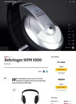 Kopfhoerer.de Behringer HPM1000