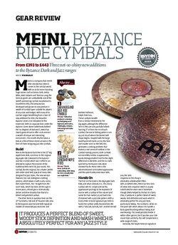 Rhythm Meinl Byzance Ride Cymbals