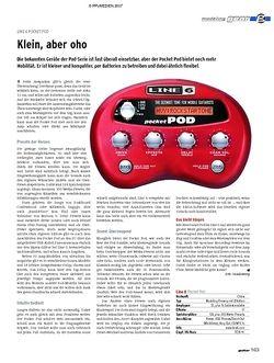 Guitar gear Modeling-Amp - Line 6 Pocket Pod