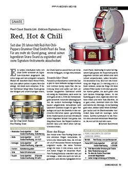 SOUNDCHECK Pearl Chad Smith Ltd. Edition Signature Snares
