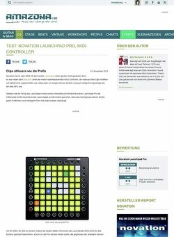 Amazona.de Test: Novation Launchpad Pro, MIDI-Controller