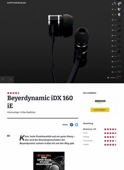 Kopfhoerer.de Beyerdynamic iDX 160 iE