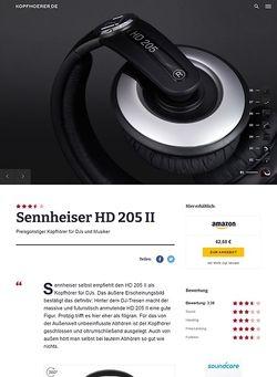 Kopfhoerer.de Sennheiser HD-205 II