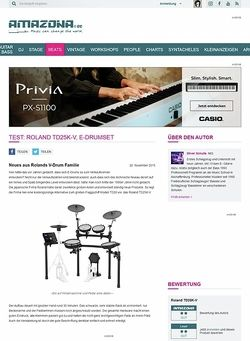 Amazona.de Test: Roland TD25K-V, E-Drumset