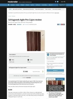 MusicRadar.com Schlagwerk Agile Pro Cajon