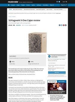 MusicRadar.com Schlagwerk X-One Cajon