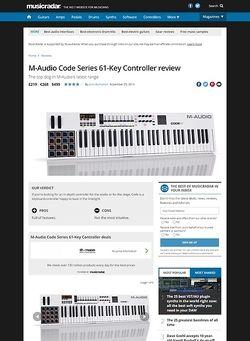 MusicRadar.com M-Audio Code Series 61-Key Controller