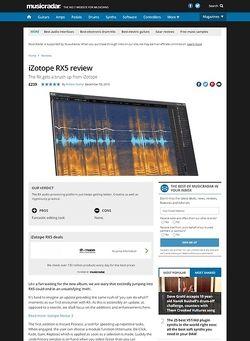 MusicRadar.com iZotope RX5