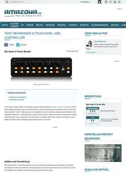 Amazona.de Test: Behringer X-Touch Mini, USB-Controller