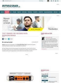 Amazona.de Test: Orange OB1-500 Bass Head, Bassverstärker